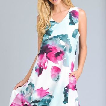 Spring Meadow Off White Floral Dress