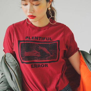 PLENTIFUL ERROR Graphic T-Shirt