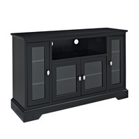 "52"" Black Wood Highboy TV Stand"