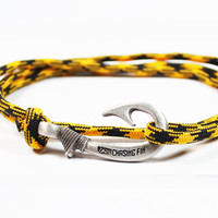 Black and Gold Fish Hook Bracelet (New)