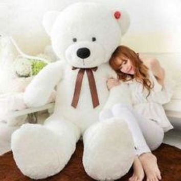 CREYON6L 47'giant huge big stuffed animal white teddy bear plush soft toy 120cm