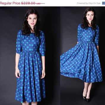 ON SALE 40% OFF - 1950s Party Dress - Anne Fogarty Dress - Polka Dot Dress - 2699