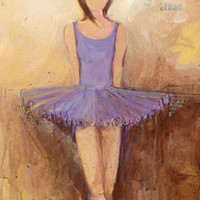Belle of the Ballet - Purple | Canvas Wall Art
