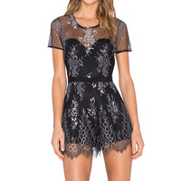 Lovers + Friends Mia Romper in Slate