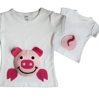 Peppa Pig Clothing/Pig Romper/Pig Shirt/Animal T-shirt/Baby Pig Gift/Baby Girl Pig Clothing/Toddler Pig shirt/Girls Pig Clothing/Peppa Pig
