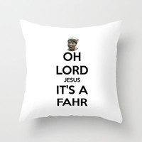 Oh Lord Jesus, It's A FAHR! Throw Pillow by Abigail Ann | Society6