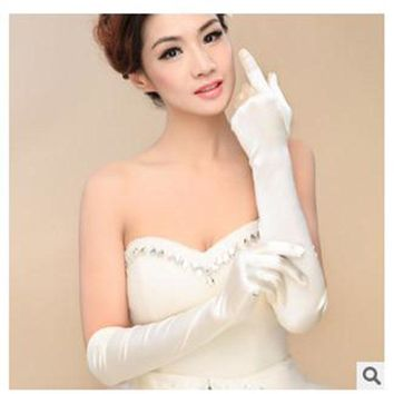 1 pair New Satin Long Gloves Opera Evening Party Costume Gloves Woman Accessories
