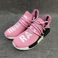 Tagre Adidas NMD Human Race Pink Leisure Running Sports Shoes
