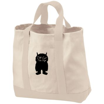 I'll Eat You Up 2-Tone Shopping Tote
