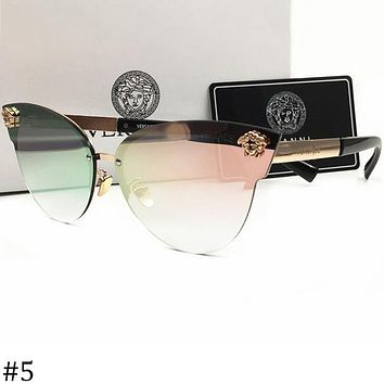 Versace 2018 men and women large frame polarized color film sunglasses F-AJIN-BCYJSH #5