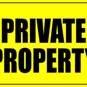 Private Property Nusiness Informational Sign