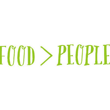 This Vinyl Car Decal Only Speaks the Truth: Food IS Better Than People