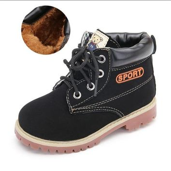 Leather Kids Boots Winter Designer Girls And Boys-Unisex Kids Shoes