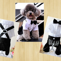 Pet products dog clothes pet apparel Formal swallow tailed dog clothing with Bow Tie Groom Tuxedo jumpsuit Free Shipping -in Dog Clothing from Home & Garden on Aliexpress.com | Alibaba Group