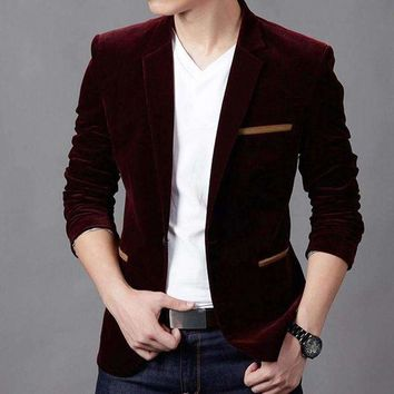 DCCKON3 2017 Mens Blazer New Arrival Hot Sale!fashion Youth Pure Color Casual Blazer Men,long Sleeves Slim Fit Masculino,three Men Suit