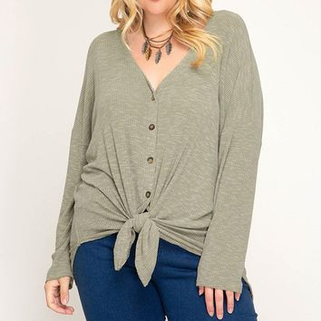 Day By Day Top + - Light Olive
