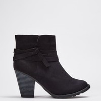 Black Wrapped Faux Suede Bootie | Booties | rue21