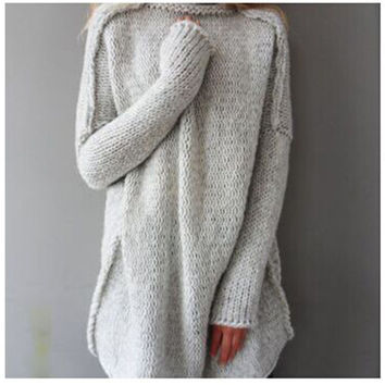 Long Sleeve Knit Tops Winter Hot Sale Pullover Sweater [9185628100]