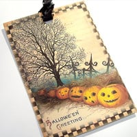 Artistic Vintage Inspired Halloween Gift Tags Set of 6 Different  Sweet Not Spooky