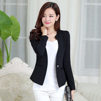 Long Sleeve Single Buttoned Casual Blazer Coat