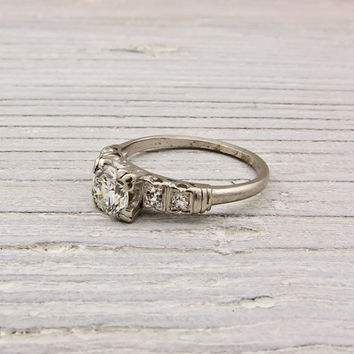 Vintage .70 Carat Diamond Art Deco Engagement Ring