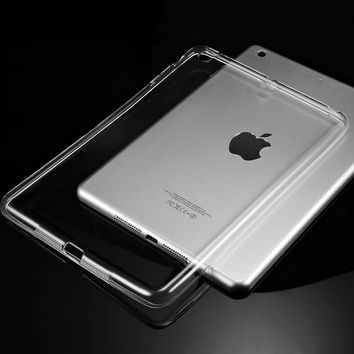 Silicon Case For iPad Air 2 Air 1 Clear Transparent Case For iPad 2 3 For iPad 4 Mini Mini 4 Soft TPU Back Cover Tablet Case
