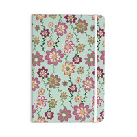 "Nika Martinez ""Romantic Floral in Mint"" Pink Teal Everything Notebook"