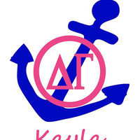 "Anchor and Monogram Delta Gamma Decal 5"" Sticker"