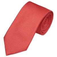 Woven plain coral tie | Men's woven silk ties from Charles Tyrwhitt | CTShirts.com