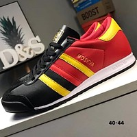 ADIDAS MOSKVA trend new leather oxford stitching retro running shoes F-CQ-YDX black+red