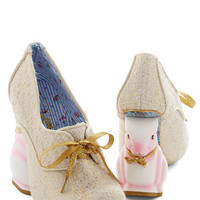 Irregular Choice Statement Look Who's Hare Heel in Gold