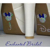 NEW Disney Inspired Minnie I Do Shoe Stickers You Pick Color Sparkly Wedding Shoe Decals