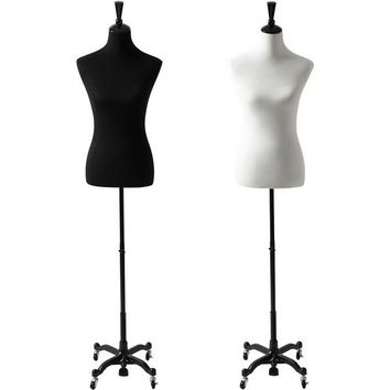 AFD-065B Ladies French Dress Form with Rolling Caster Base