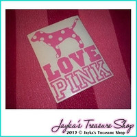 Victoria's Secret LOVE PINK 55 x 7 Car by JaykasTreasureShop