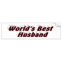 World's Best Husband 3D Bumper Sticker, Burgundy Bumper Sticker