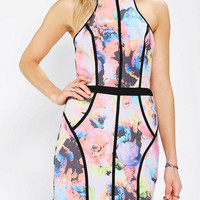 Urban Outfitters - Finders Keepers Winterbirds Neon Floral Halter Dress