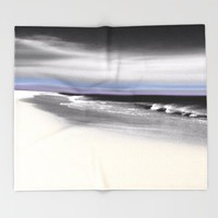 Lovely Twilight Seascape 2 Throw Blanket by Jen Warmuth Art And Design