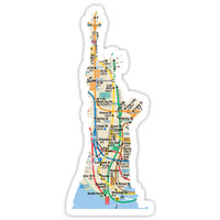 'Statue of Liberty NYC subway map' Sticker by hookink