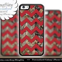 Monogram iPhone 5C 6 6 Plus Case Camo Red Chevron iPhone 5s iPhone 4 case Ipod 4 5 case Real Tree Personalized Country Inspired Girl