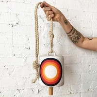 Large Wide Thrown Rainbow Bell