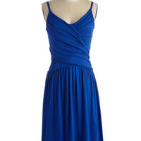 ModCloth Americana Long Spaghetti Straps A-line Tend to Commend Dress