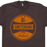 Amsterdam T Shirt Vintage Amsterdam Funny Beer T Shirt