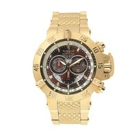 Invicta Men's Subaqua 18k Gold-Plated Stainless Steel Chronograph Watch (Yellow)
