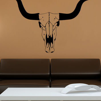 Vinyl Wall Decal Sticker Cow Skull #1559