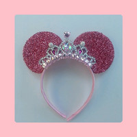 Brand New Style Shimmer Tiara Minnie Mouse ear Headband