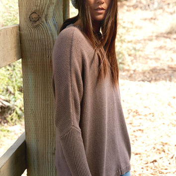 LA Hearts Ribbed Sleeve Pullover Sweater at PacSun.com