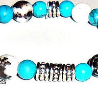 A Men's Bracelet Blue Boy I Am Brave Made from by ANenaJewelry