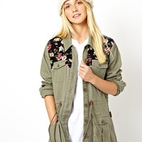 Bellfield | Bellfield Parka With Floral Detail at ASOS