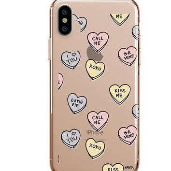 Candy Hearts - iPhone Clear Case