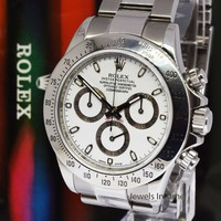 Rolex Daytona Chronograph Steel Mens Watch Engraved Inner Bezel M 116520
